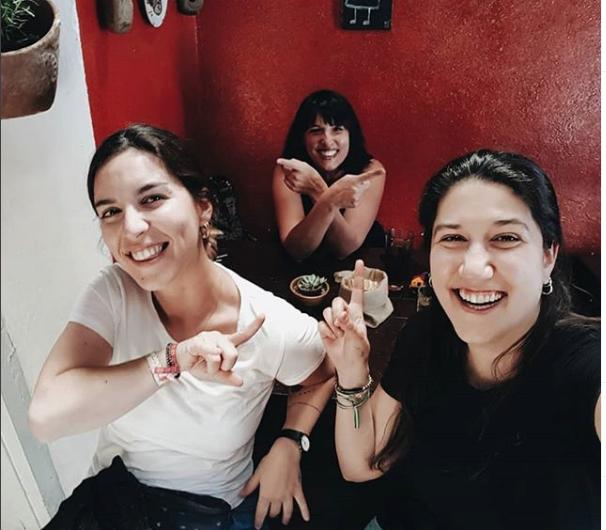 comiendo con Rosa en LeComedor